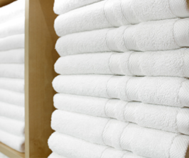 stacks of clean white towels